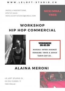 Copie de Workshop hip hop commercial